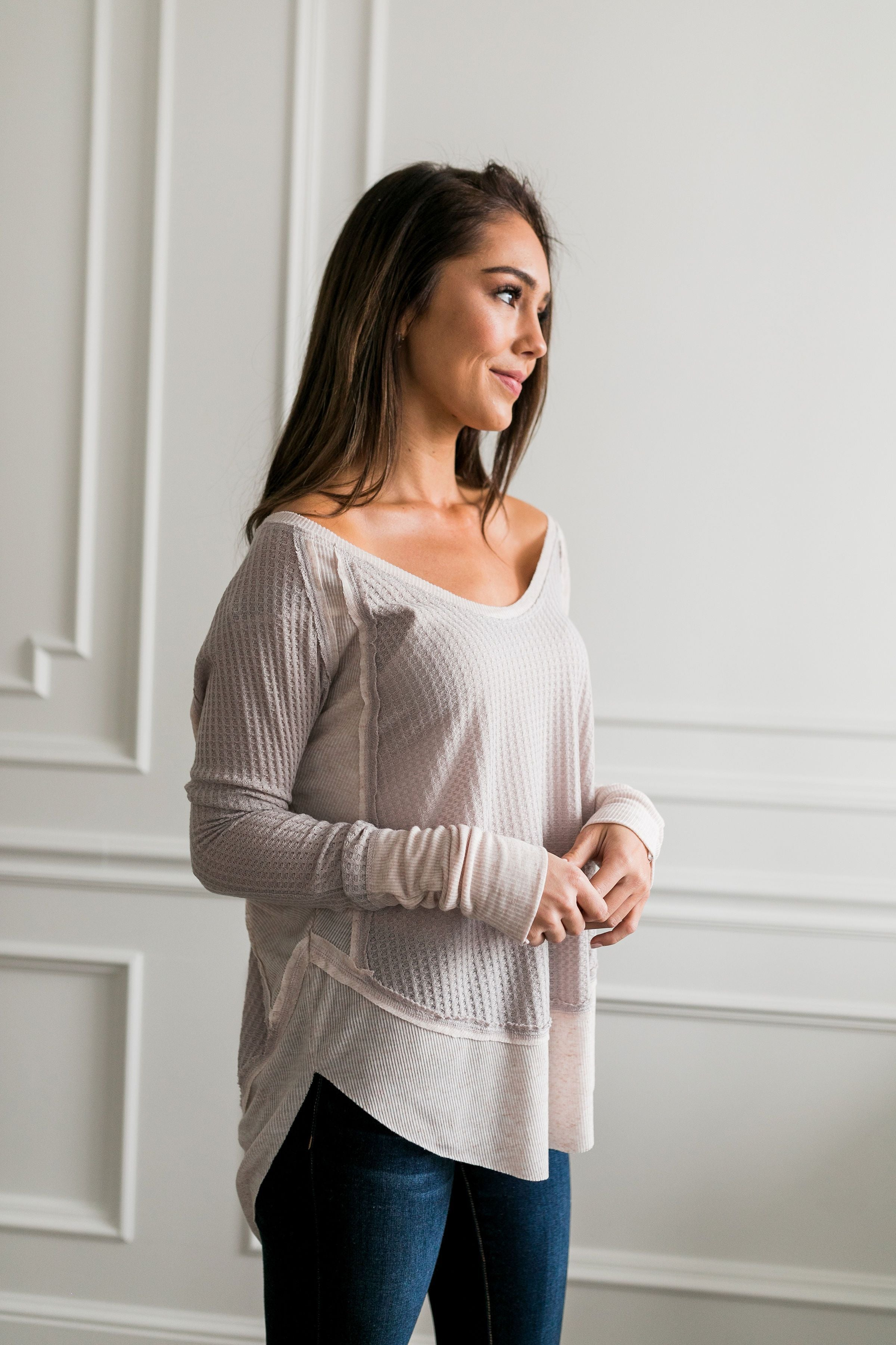 Easy Breezy Beautiful Layered Tee