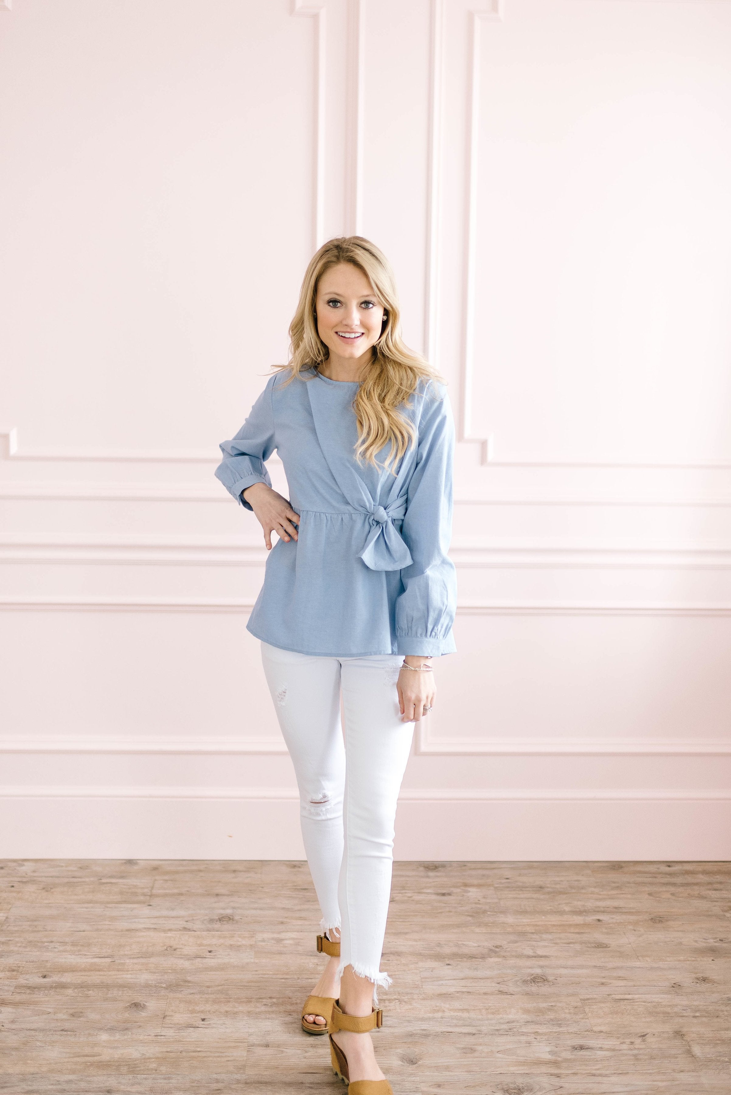 Forget Me Knot Long Sleeve Top