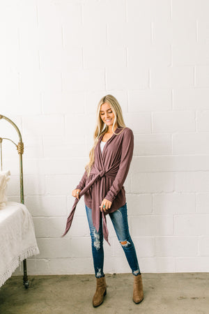 It's A Wrap Top In Plum - ALL SALES FINAL