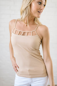 Lattice Tank In Nude