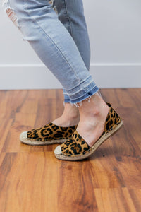 Leopard Print Espadrille Loafers