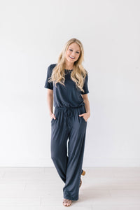 Life Is Good Jumpsuit In Slate