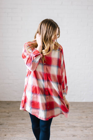 Mad About Plaid Tunic in Red