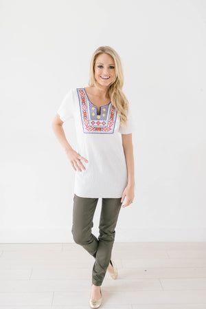 Maria Embroidered Top