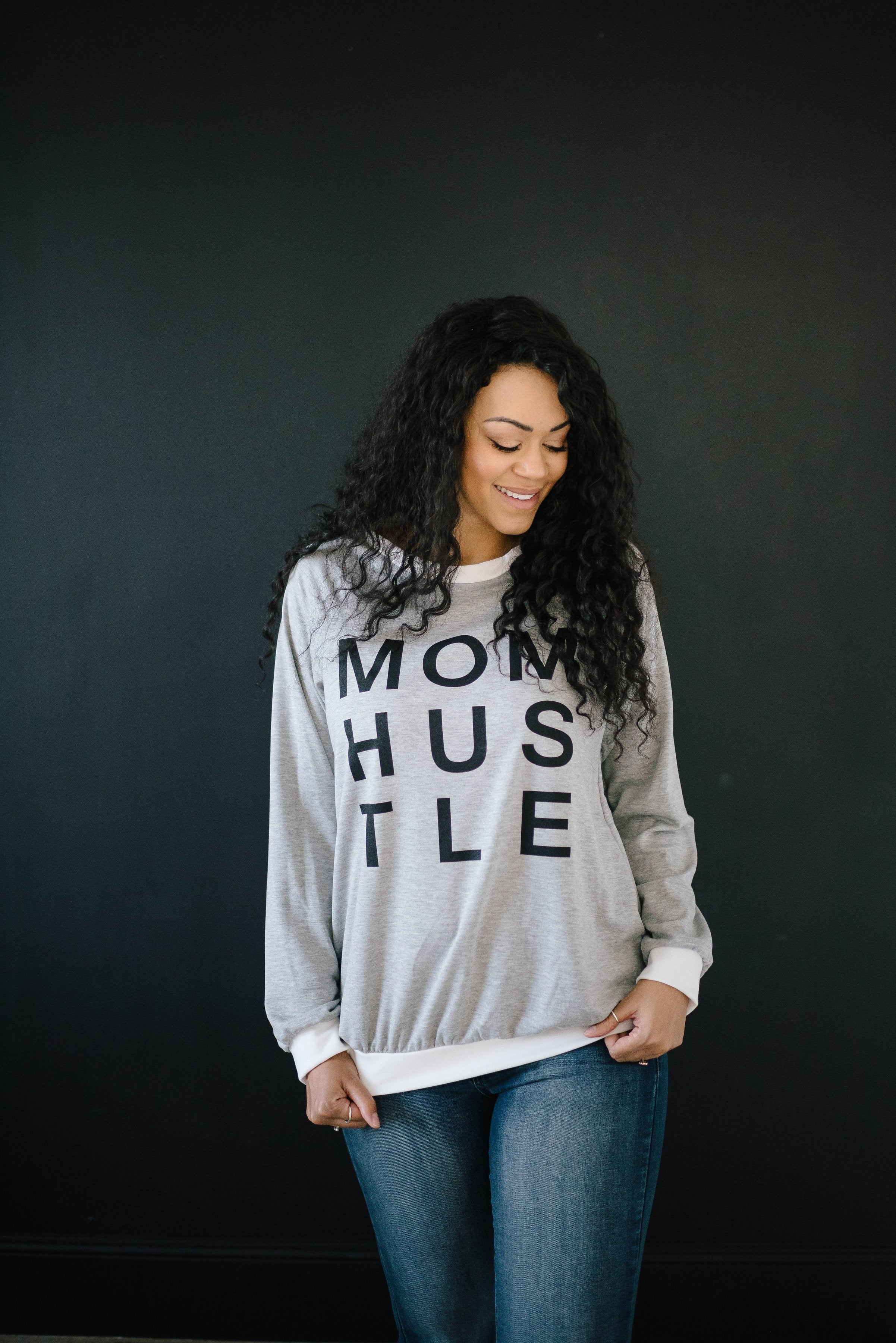 Mom Hustle in Gray