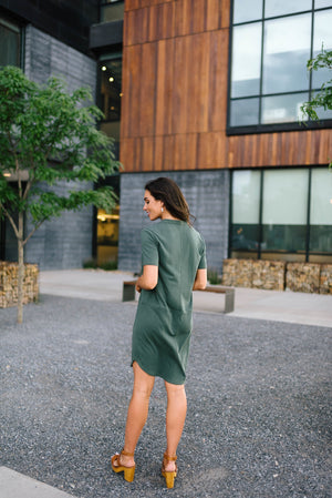 Northwest Knit Dress in Emerald