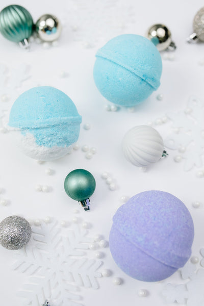 Cottage Garden Bath Bomb in Winter Wonderland