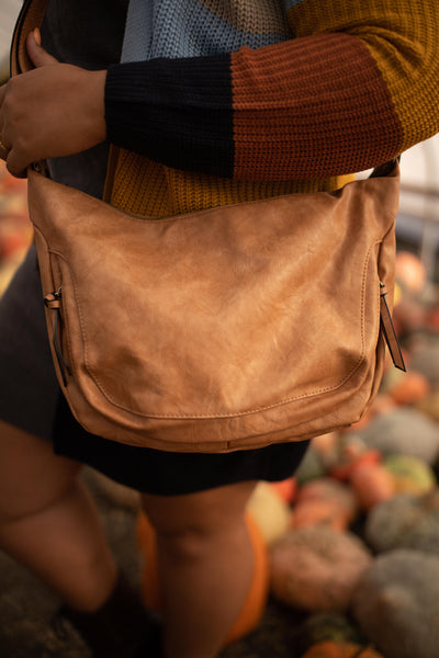 Walnut Vintage Hobo Bag