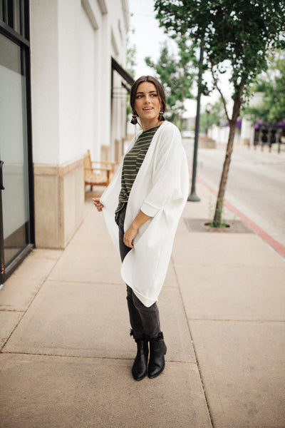 Cozy Chenille Cardi In Ivory