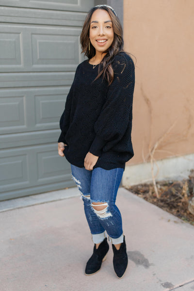 Designed For Details Sweater in Black