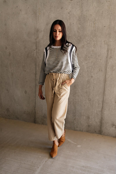 Double Trouble Striped Top