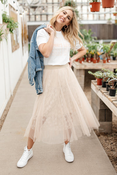 Layered In Lace Skirt