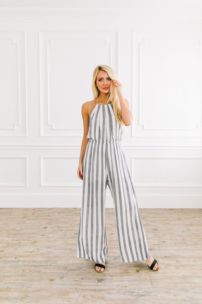Nantucket Striped Jumpsuit