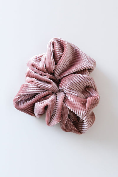 Ribbed & Velvet Scrunchie Set
