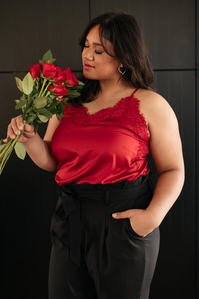 Roses and Satin Tank