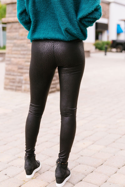 Black Mamba Snakeskin Leggings