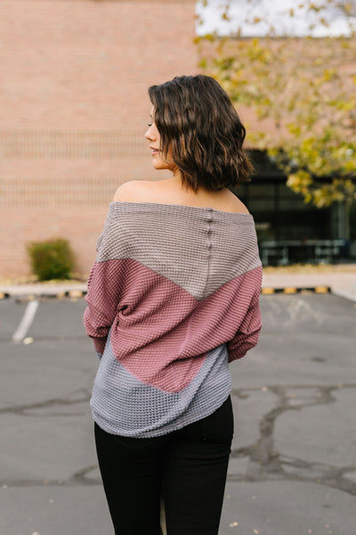 Cheyenne Chevron Color Block Top