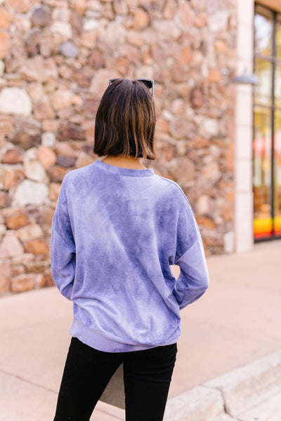 Clear Waters Tie Dye Sweatshirt In Faded Indigo