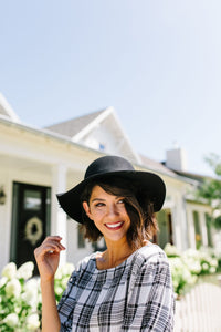 Floppy Felt Hat In Black