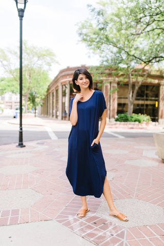 Keep Your Cool Dress In Navy