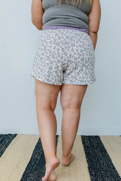 Purple Leopard Shorts