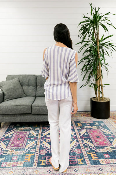Summertime Blues Striped Blouse