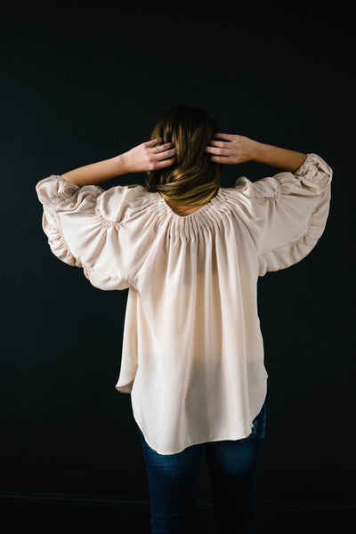 The Middleton Blouse in Cream