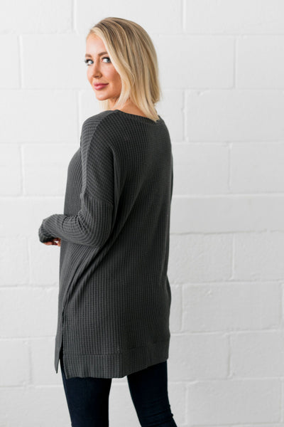 Thermal Tunic In Ash Gray