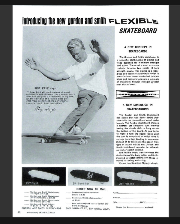 1964/65 The First Flexible Skateboard by Gordon & Smith