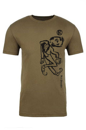 G&S Neil Blender Coffee Break Vertical Tshirt - OLIVE GREEN
