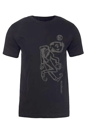 G&S Neil Blender Coffee Break Vertical Tshirt - SOFT BLACK