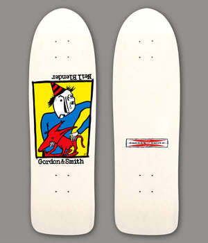 "WHITE -G&S Modified 80's -Neil Blender ""Rocking Dog"" Graphic"