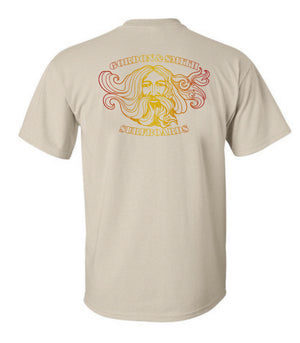 Old Mans Short Sleeve Tshirt - Sand