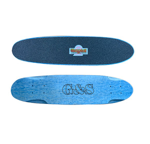 "29"" G&S Warp 2 Roundtail Skateboard -BLUE"