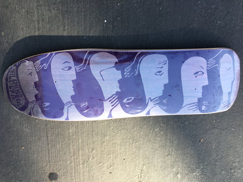 "Modified 80's - ""Faces"" Graphic Purple/Purple"