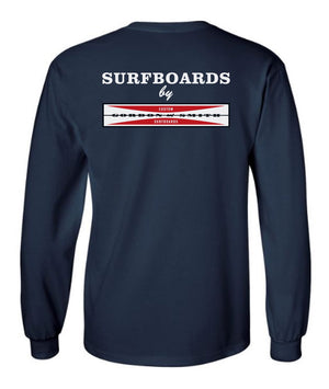 Original Logo Long Sleeved Tshirt - Navy