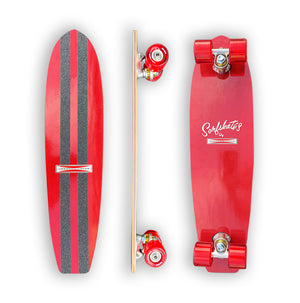 "G&S modified 60's SurfSkate- 25"" Cherry Red"