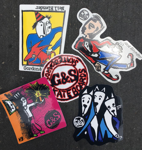 G&S /Neil Blender asst Sticker Pack- 4pc