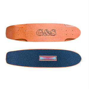 "29"" G&S Warp Squaretail Skateboard-Orange"