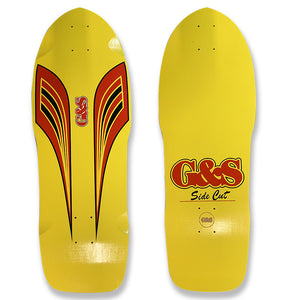G&S 80s SideCut Reissue Deck - Yellow