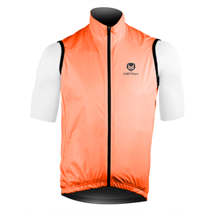 S100 Cycling Gilet Orange Fluo