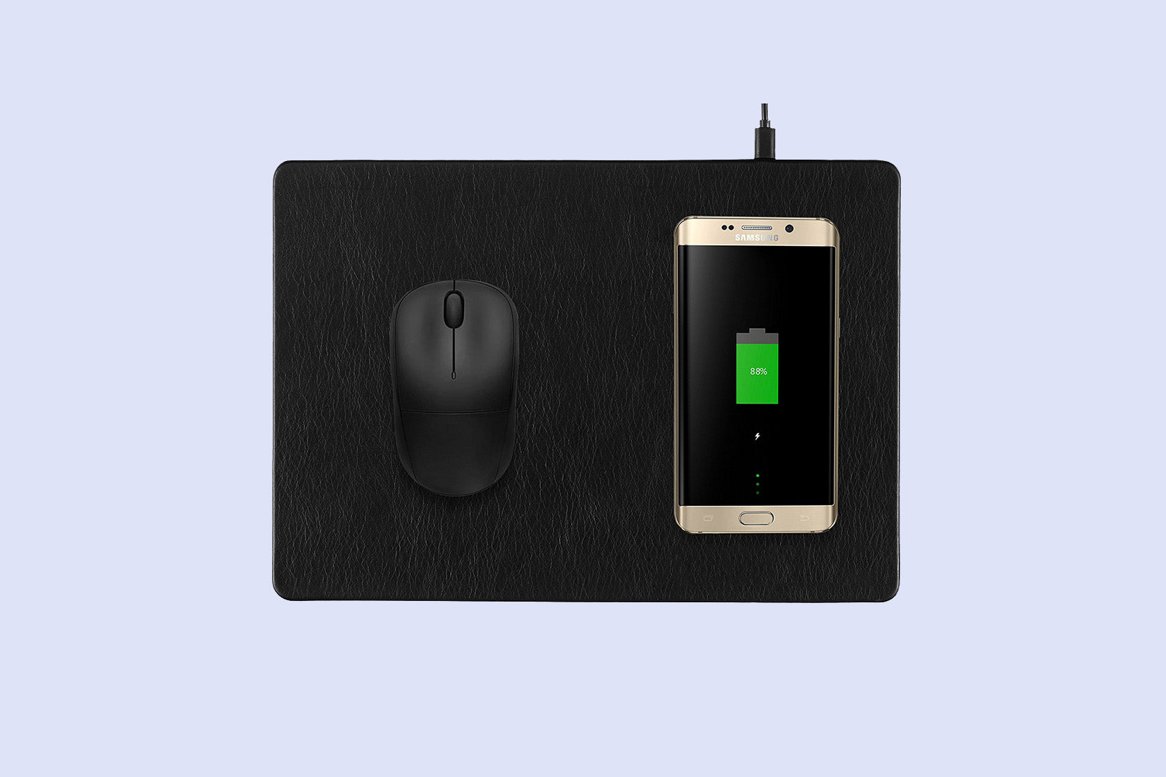 #32 cool gadgets for men: wireless charging mouse pad