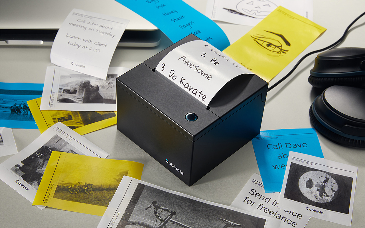 #21 cool gadgets for men: black sticky note printer