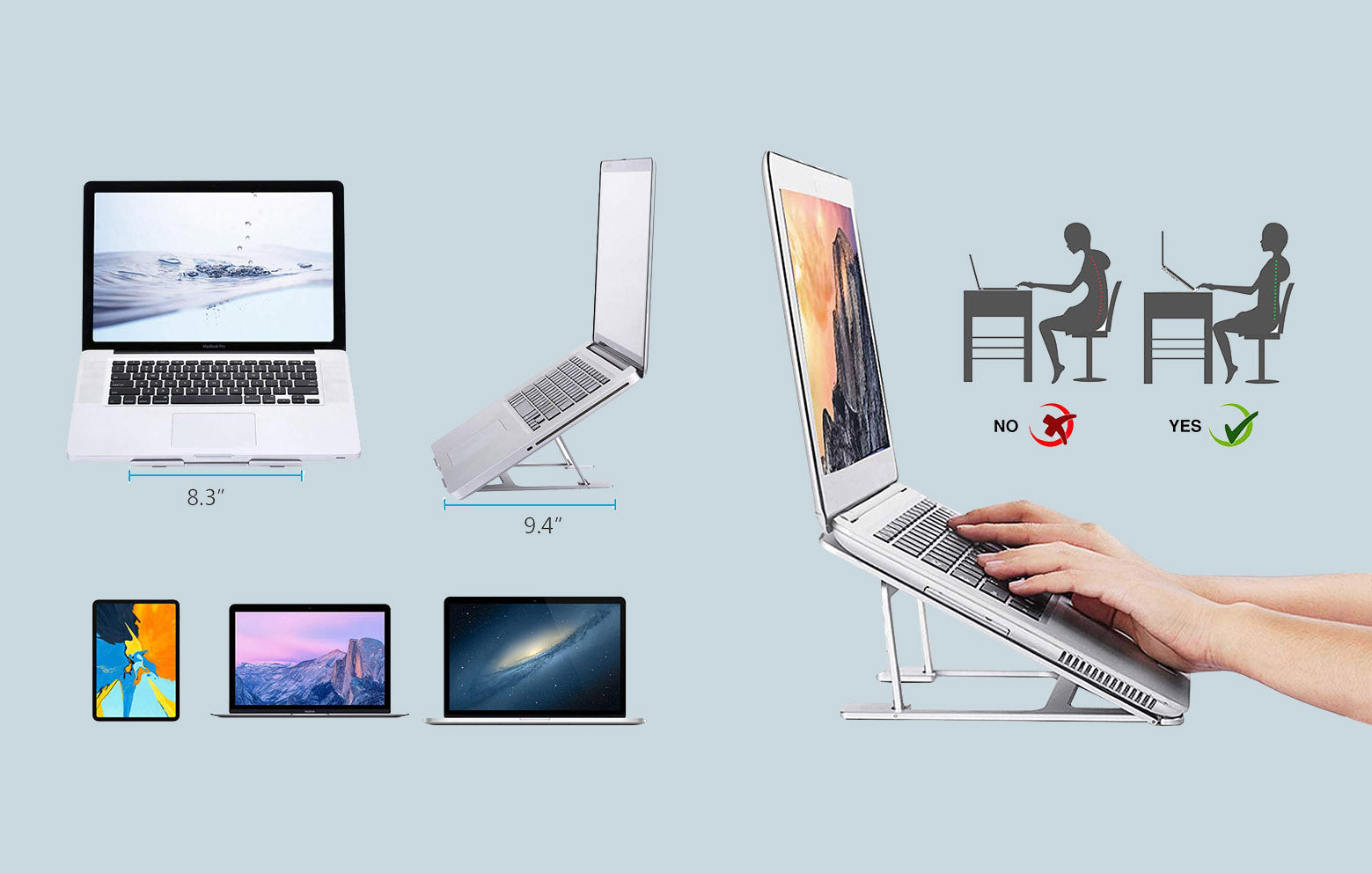 #11 gifts for boyfriends mom: Portable Laptop Stand