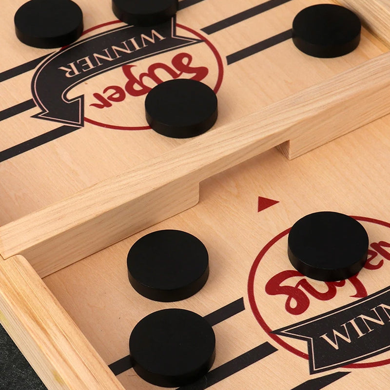 ice hockey battle table game close up