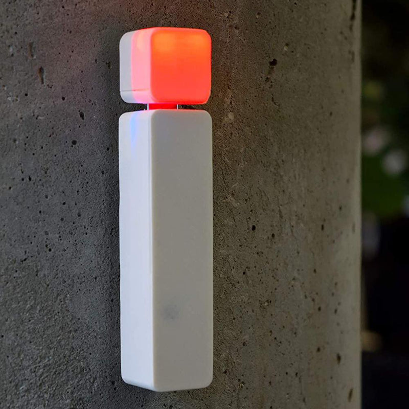 Luxafor Bluetooth Wireless LED Status Indicator red light attached on wall