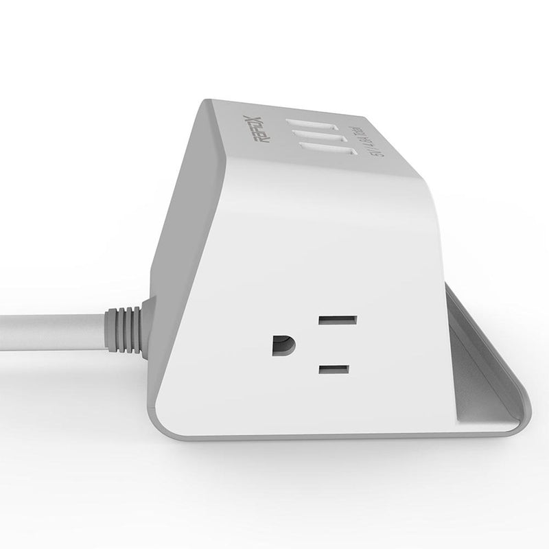 Multipurpose Power Strip & Wireless Charger  side view