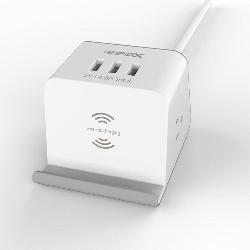 Multipurpose Power Strip & Wireless Charger  front view
