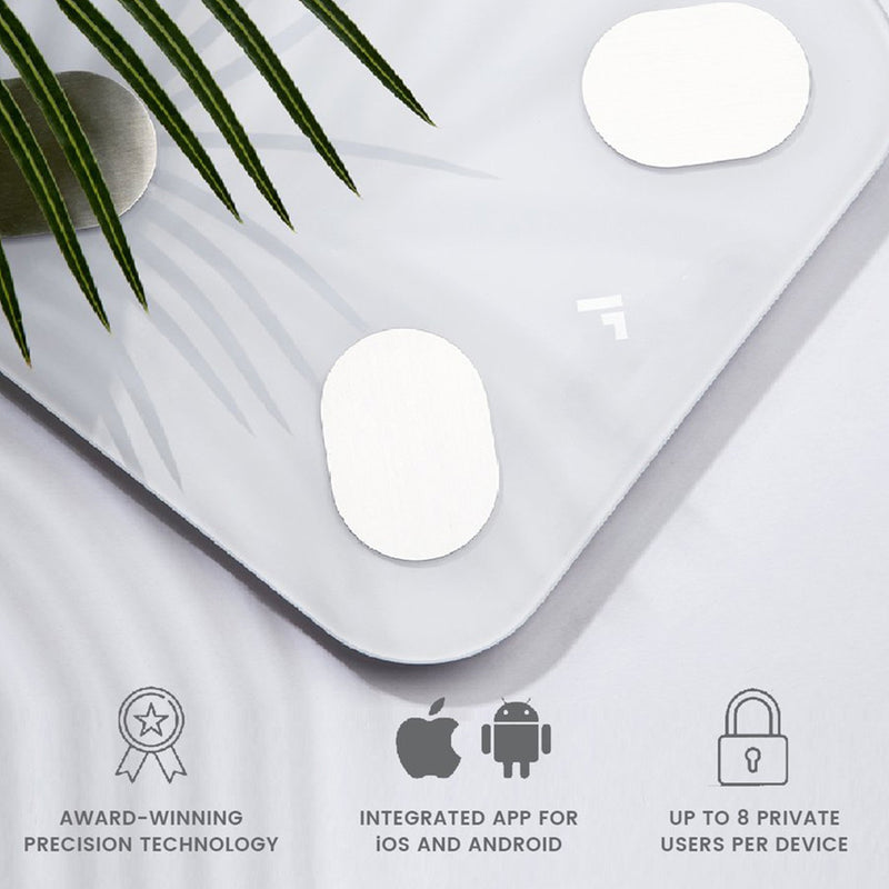 Smart Body BMI Scale compatible with Android and Apple up to 8 people