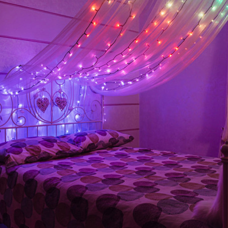 Spirit-Lifting Customizable LEDs in the bedroom